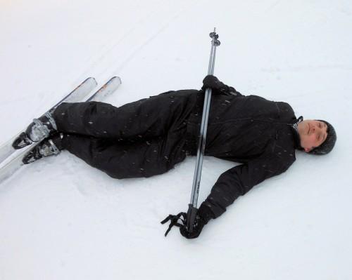 папка валяется на снегу